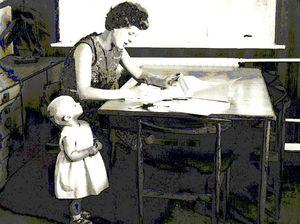Ann Moffatt writing the programs for the Concorde black box in 1966.