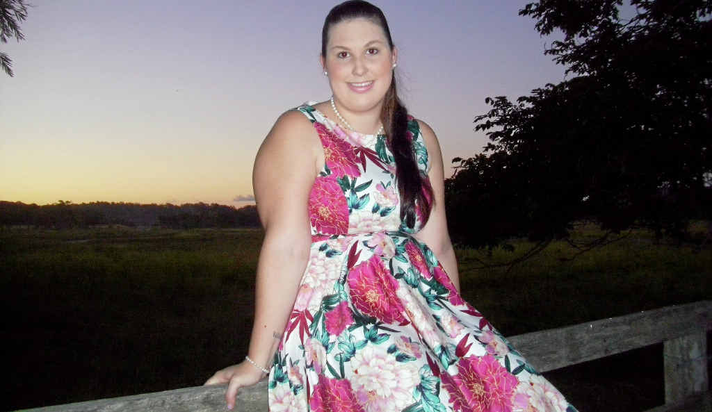 SET TO IMPRESS: 23-year-old country girl Jacquie-Lee Ellaway, the local entrant in the state-wide Miss Showgirl competition, at her home in Tanby.