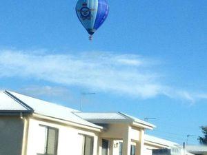 RAAF hot air balloon over Gladstone