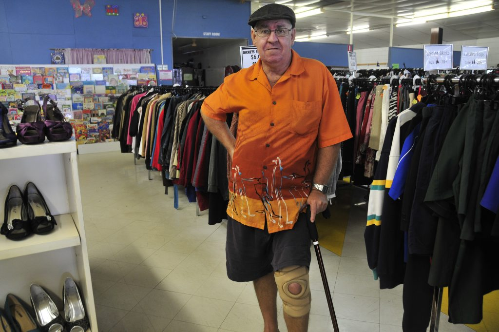 Pensioner Pedro at the Red Shield Family Store in Gladstone.
