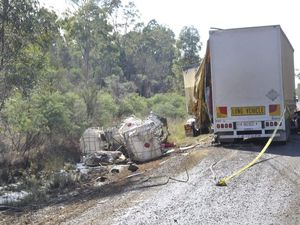 Chemical spill from truck crash contained