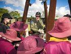 FUN TIMES: Rosella Park School pupils inspect the RAAF balloon.