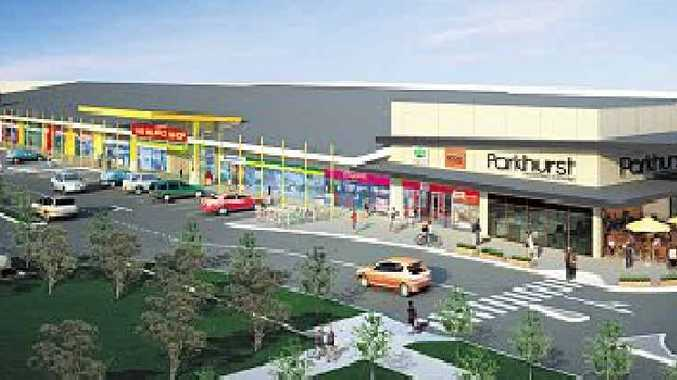 An artist's impression of the Parkhurst Shopping Centre.