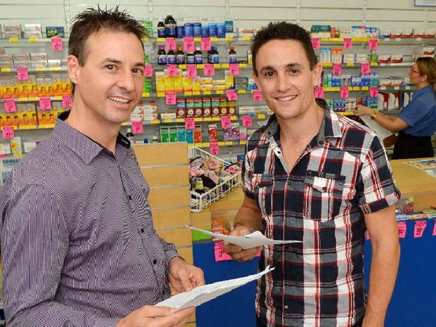 JOB CHOICE: Chemist Warehouse senior partner Queensland Jeff Wasley, State manager Travis Hughes, retail manager Terri Georgee and pharmacist Jessamy Hannah are busy inteviewing for retail positions at their new chemist on Sydney St.