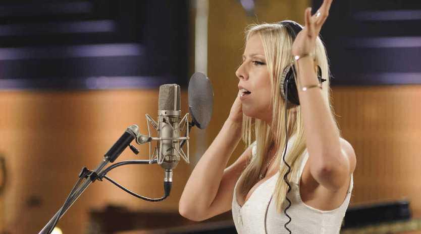 BIG IMPRESSION: The Voice Australia contestant Louise Van Veenendaal rehearses.