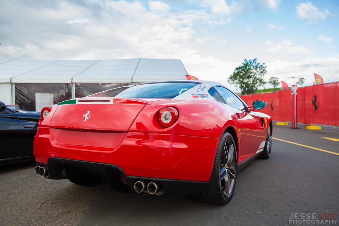 The Ferrari 599 GTB.