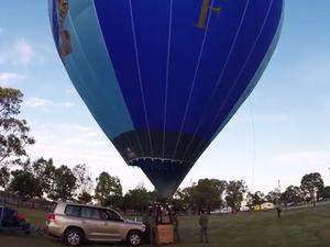Video: Balloon flight gives birds-eye view of Rockhampton