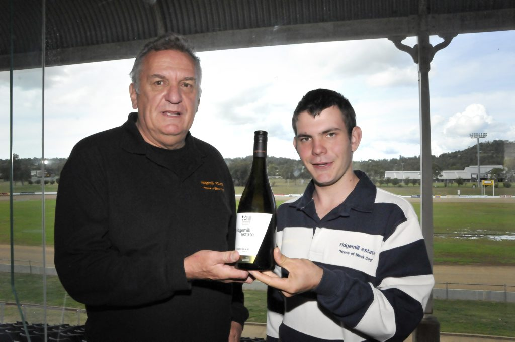 Wine Show public tasting at Toowoomba Showgrounds. Martin Cooper and Jacob Veness of Ridgemill Estate, Stanthorpe.