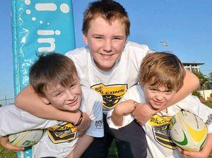 ASD kids tackle footy trial