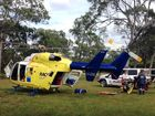 A man has been impaled on a handle bar and another has barbed wire injuries to his neck after a quad bike crash at Rules Beach.