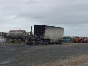 Trucks destroyed by fire in Paget