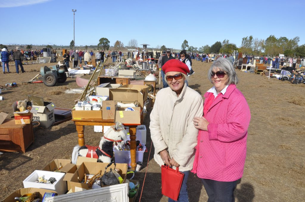 Image for sale: Judy Hoey and Wendy Leeson take in the action at the Allora Community Auction and Markets Photo Nick Houghton / The Chronicle