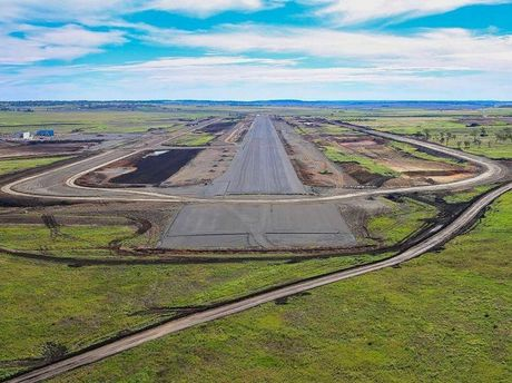 Construction of Wellcamp Airport. Runway. Photo Contributed