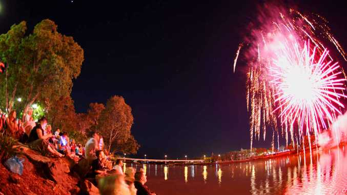 SHINING BRIGHT: Fireworks will be included in a jam-packed program being organised for the inaugural Rockhampton River Festival in 2015.
