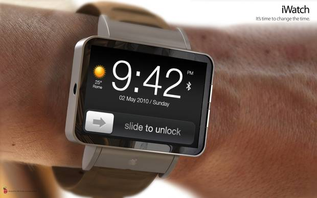 A mock-up of the iWatch. Source: ADR Studio