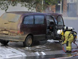 Car fire CBD