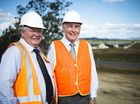 ALMOST COMPLETE: Federal MP Ken O'Dowd and Acting Prime Minister Warren Truss inspect the Calliope Crossroads.