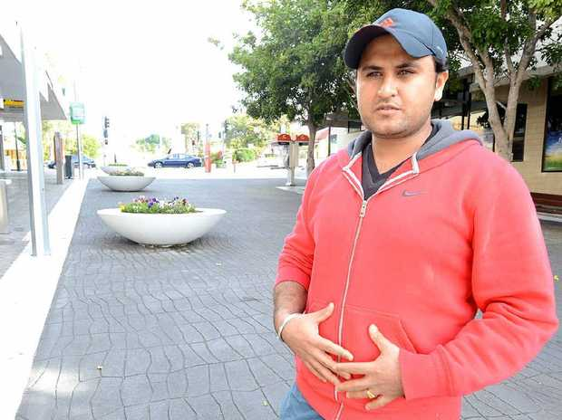 CONFRONTATION: The manager at Indian Mehfil Jasan Singh received a stab wound when he assisted a staff member who was attacked in Ipswich Mall on Friday night, allegedly by two youths.