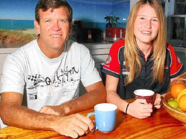 ON THE MONEY: Fred Stokes and daughter Phoebe have their electricity-saving measures down pat.