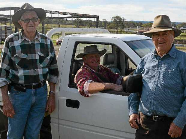 Rod McLennan and Ron Benz are two of Bill Pentecost's good friends from the sheep sale.