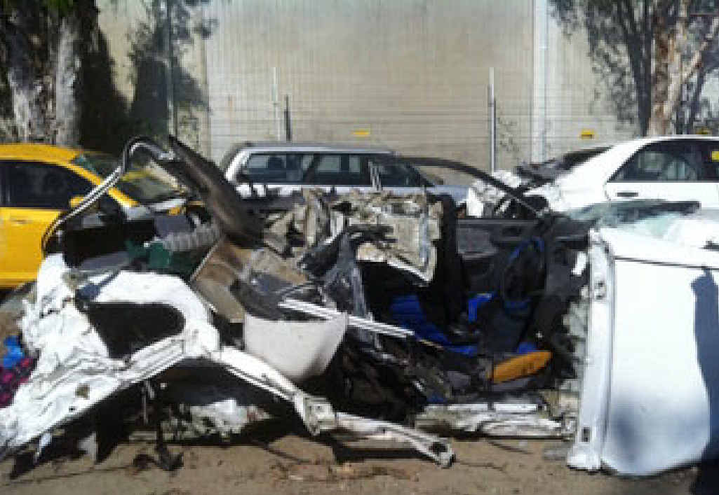IMPACT: Allen Butler died in this wreck on the Sunshine Coast in August 2012 after a head-on crash with a car driven by Billy Cody.