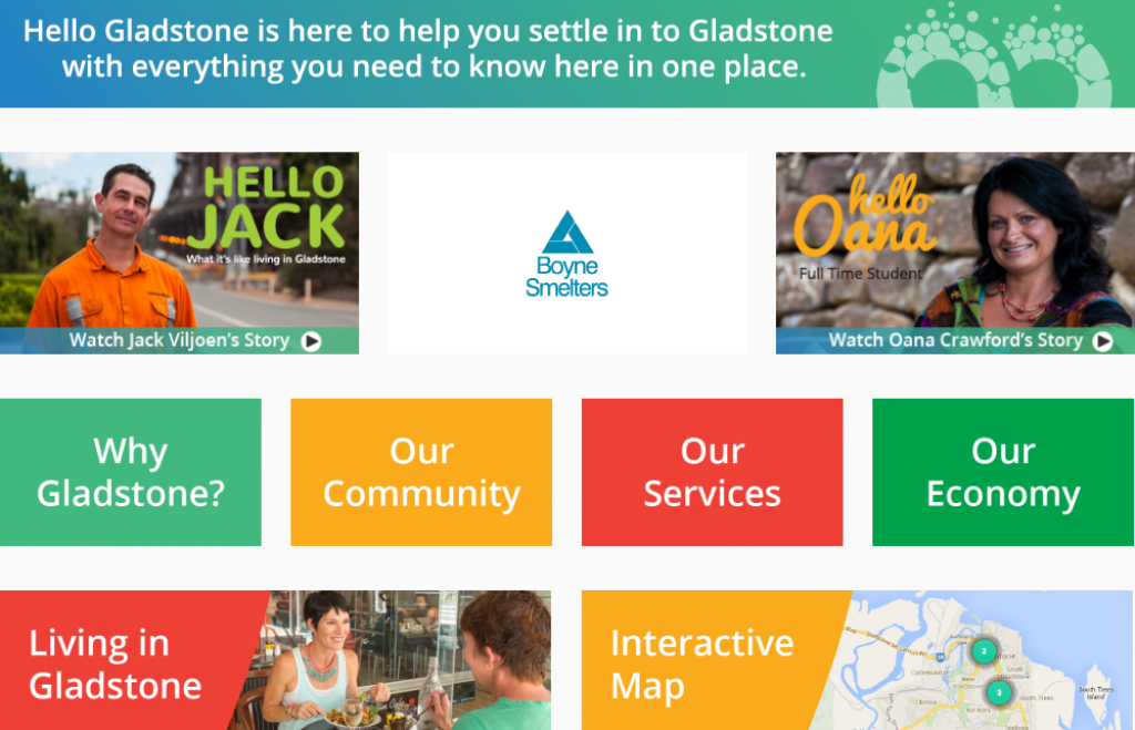 The Hello Gladstone website has been built to attract people to Gladstone.