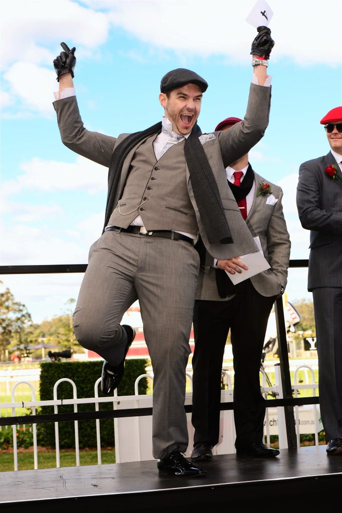 Ipswich Cup Race Day 2013. Fashions on the Field male winner Bryce Edwards of Summerholm. Photo: David Nielsen / The Queensland Times