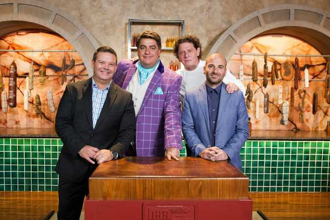 Marco Pierre White, second right, with MasterChef Australia's Gary Mehigan, Matt Preston and George Calombaris.