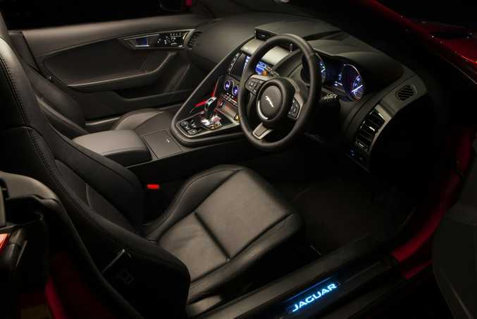 Inside the Jaguar F-Type.