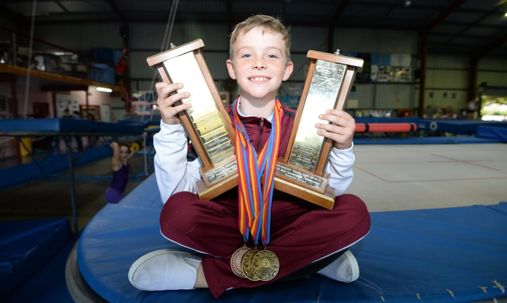 Sam Durkin recently returned from the National Trampoline championships. Photo: Chris Ison / The Morning Bulletin