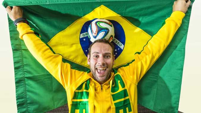 A keen supporter of the World Cup. Photo Adam Hourigan / The Daily Examiner