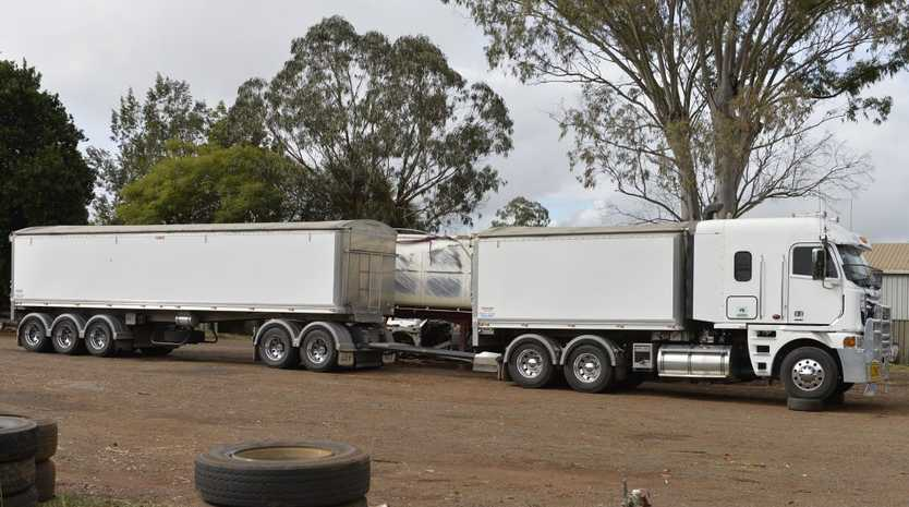 A truck was parked in a Newtown holding yard yesterday after being forensically examined by police investigating the hit and run death of a cyclist near Inglewood.