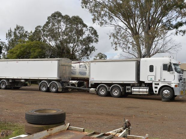 A truck forensically examined by police investigating the hit and run death of a cyclist near Inglewood.