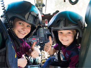 Kids' flying school yard visit to say thanks