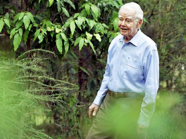 REAPING REWARDS: Arnold Rieck is dedicated to preserving plants on the Rosewood Scrub Arboretum.
