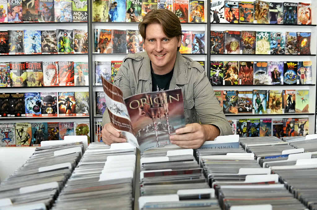 NO VILLIAN HERE: Daily Planet Comics Ipswich manager Terry Clayton is stoked with how the Brisbane St store is doing.