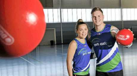 SPEED AND AGILITY: GSAC dodgeball co-ordinators Sophie Ciani and Keegan Isbester are looking forward to providing a first for Lismore – social dodgeball for eight keen teams.