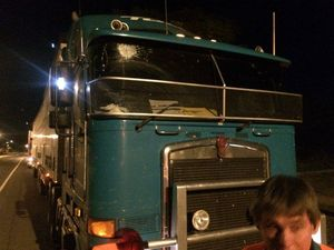 Rock attack on truck driver sparks online outrage