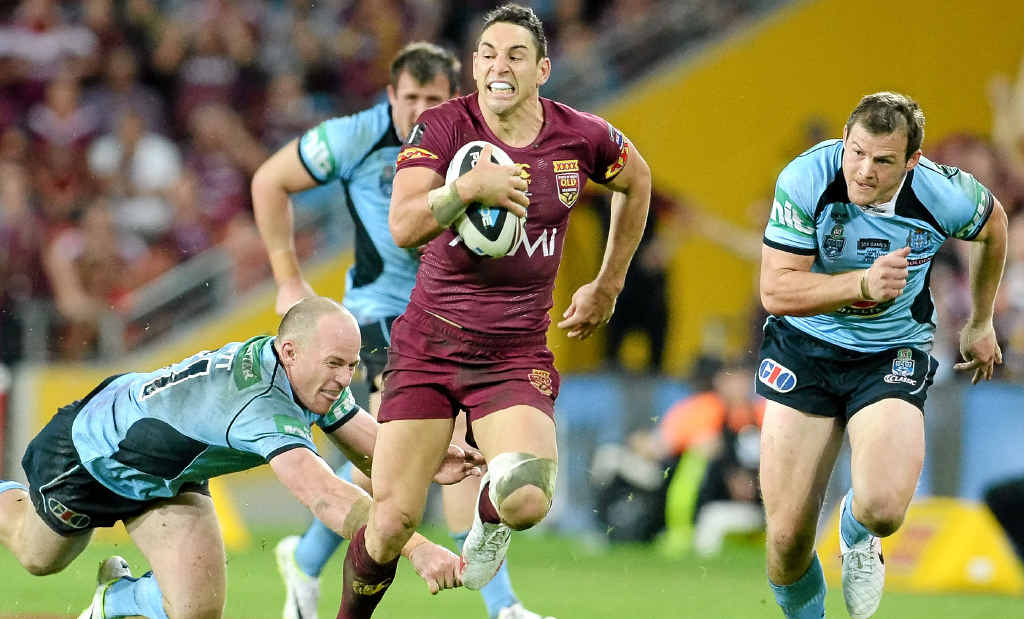 MORE OF THE SAME PLEASE: Queensland 's Billy Slater makes a break in the first game of the State of Origin series at Brisbane's Sucorp Stadium on May 28.