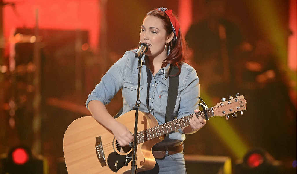 RAW TALENT: Taila Gouge pictured during her showdown performance on The Voice last night which wowed the judges.