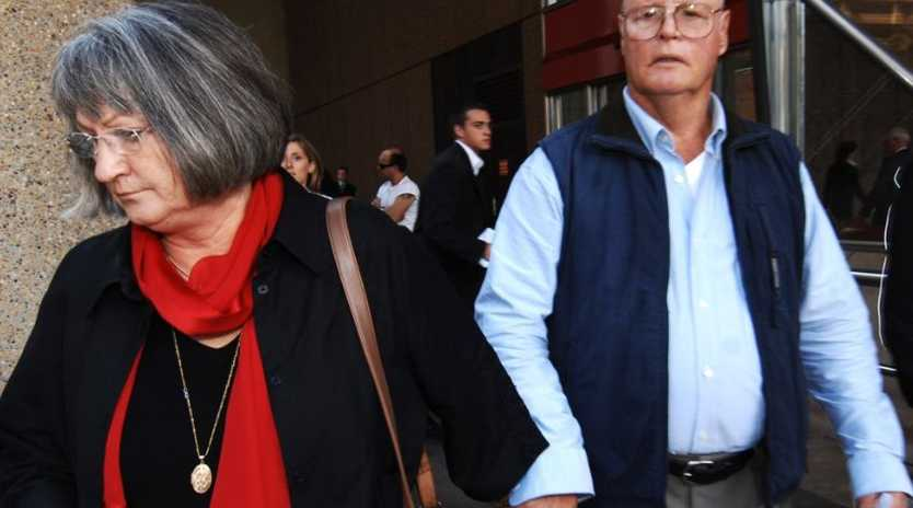 Margaret and Raymond Sutton leave the NSW Supreme Court in Sydney, Wednsday, April 4, 2007. The Suttons were placed on a 5 year good behaviour bond for pleading guilty to the manslaughter of their blind and disabled 28 year old son in 2001.