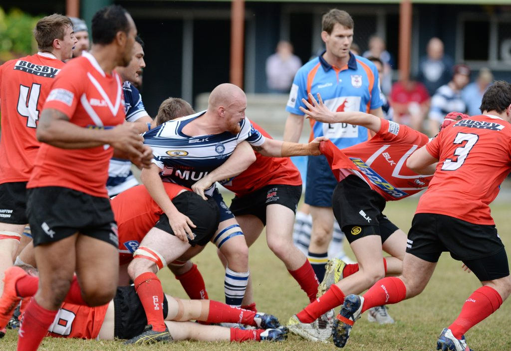 Brothers player Tim Pearce in the rugby union game against Colts at Rugby Park. Photo: Chris Ison / The Morning Bulletin
