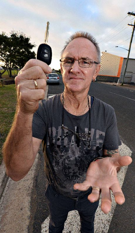 NOWHERE TO GO: Roger Dewar is unhappy with the lack of parking on the Ritchie St side of Martens Oval, which he's photographed.