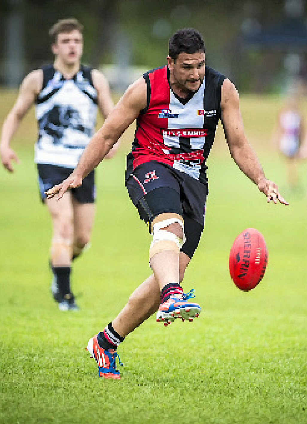 ON THE RUN: BITS' Damien Lyon during the BITS vs Panthers match.