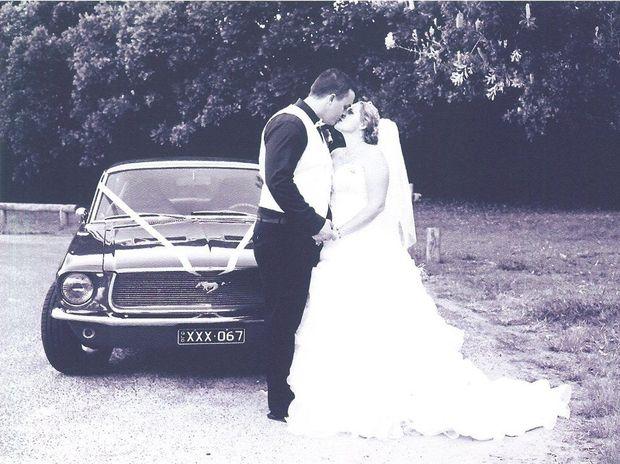 DREAM WEDDING: Mark and Miranda Gallaghan on their wedding day at the Sunshine Coast.