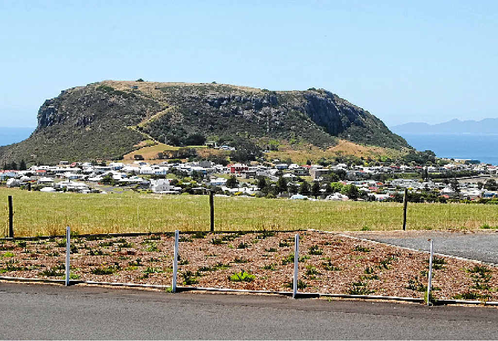 DRIVEN NUTS: The Nut landmark at Stanley in Tasmania is where some truckies spin yarns about yowies inhabiting the summit.