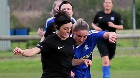 ON THE BALL: Bangalow striker Jade Bianchetti scored four goals in the FNC Ladies Premier Division on Sunday.