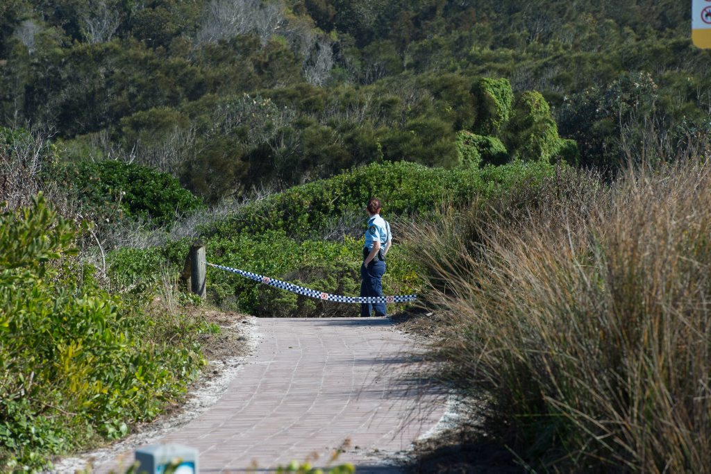 Police are yet to formally identify the elderly woman whose body was found at the northern end of Moonee Beach on Wednesday morning.
