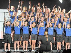 Entrants warm up vocal chords for eisteddfod