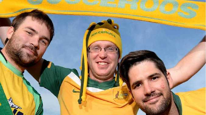 FOOTBALL FANATIC: Jay Gesch ready for the World Cup in Brazil.